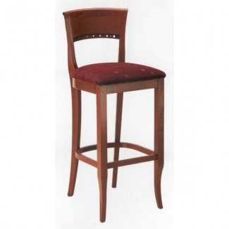 Biedermeier Style Beech Wood Bar Stool 2400P with Upholstered Seat