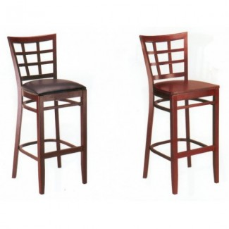 European Beech Solid Wood Upholstery Restaurant Bar Stools Beechwood Bar Stool 2527P