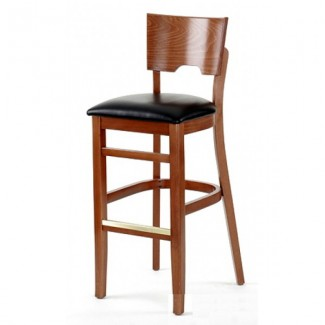 European Beech Solid Wood Upholstery Restaurant Bar Stools Beechwood Bar Stool 2740P