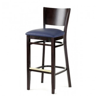 Contemporary Beech Wood Bar Stool 2840P with Upholstered Seat 2840P