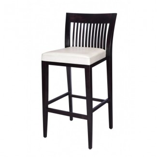 Modern Mid-Back Beech Wood Bar Stool 2940P