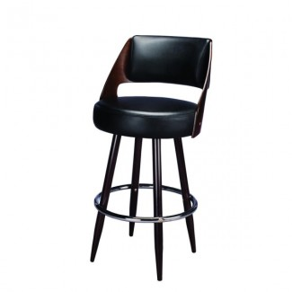 Beech Wood Bar Stool 3098P with Barrel Back