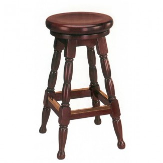 Backless Beech Wood Bar Stool 3250W with Wood Swivel Seat