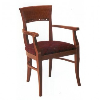 European Beech Solid Wood Upholstery Restaurant Arm Chairs Beechwood Arm Chair 1100A