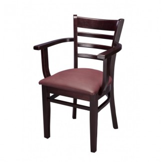 Beech Wood Arm Chair 553AP With Ladder Back