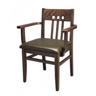 European Beech Solid Wood Upholstery Restaurant Arm Chairs Beechwood Arm Chair 869A