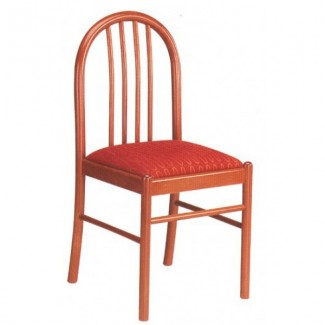Beech Wood Side Chair 114P with Vertical Slat Back