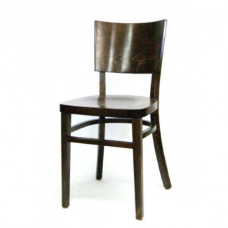 Contemporary Cafe Sized Beech Wood Side Chair 202P