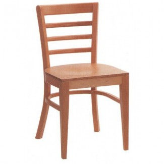 Beech Wood Side Chair 300P with Ladder Back