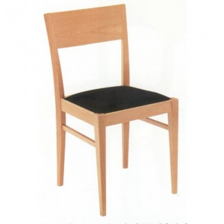 Contemporary Beech Wood Side Chair 365P with Upholstered Seat