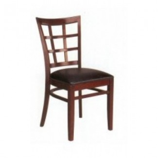 Beech Wood Side Chair 527P with Windowpane Back