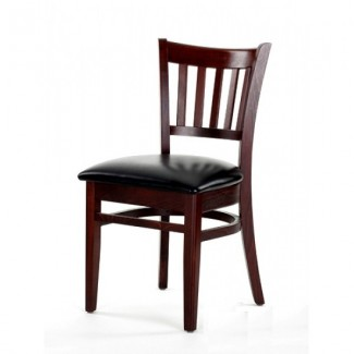Beech Wood Side Chair 550P with Vertical Slat Back
