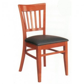 Beech Wood Side Chair 565P with Vertical Slat Back