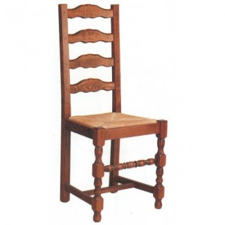 Rustic Beech Wood Side Chair 700R with High Ladder Back