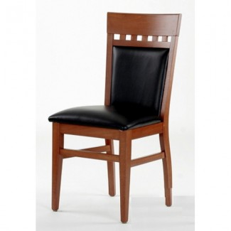 Beech Wood Side Chair 828P with High Back and Upholstered Seat 828P