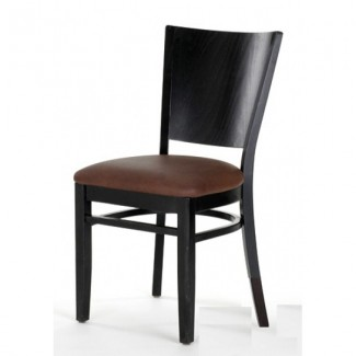 Contemporary Beech Wood Side Chair 840P with Solid Back