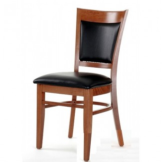 Beech Wood Side Chair 865P with High Back and Upholstered Seat