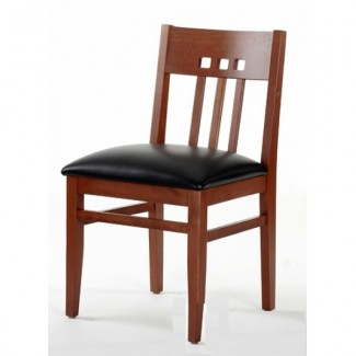 Contemporary Beech Wood Side Chair 869P with Upholstered Seat 869P