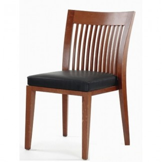 Modern Beech Wood Side Chair 940P with Mid-Back Vertical Slats