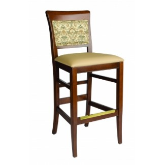 European Beech Solid Wood Restaurant Bar Stools Holsag Remy Bar Stool