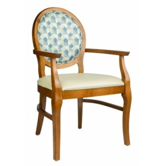 European Beech Solid Wood Restaurant Chairs Holsag Bristol Arm Chair