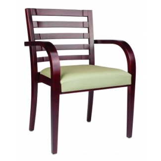 European Beech Solid Wood Restaurant Stackable Chairs Holsag Monaco Stacking Arm Chair