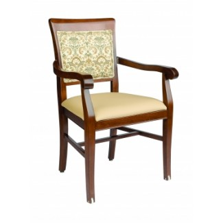 European Beech Solid Wood Restaurant Chairs Holsag Remy Arm Chair