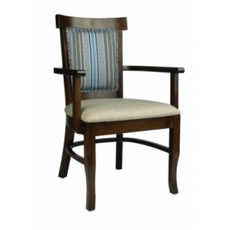 European Beech Solid Wood Restaurant Chairs Holsag Tudor X-Back Arm Chair