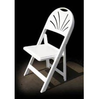 Fan Resin Folding and Stacking Chair - Ivory