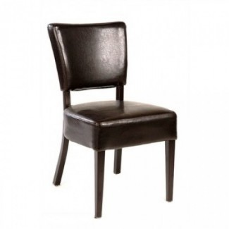 Wood-Grain Metal Side Chair M5560