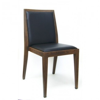 Wood-Grain Metal Marlon Side Chair