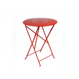"Floreal 24"" Round Folding Bistro Table without Parasol Hole"
