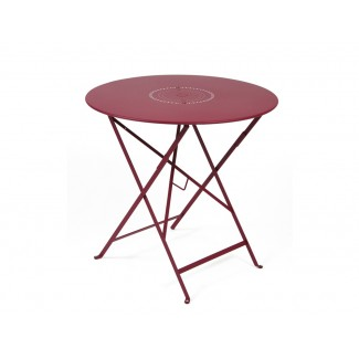 "Floreal 30"" Round Folding Bistro Table with Parasol Hole"