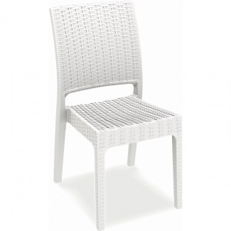 Florida Stacking Restaurant Side Chair in White