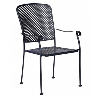Wrought Iron Restaurant Chairs Fullerton Dining Stacking Arm Chair
