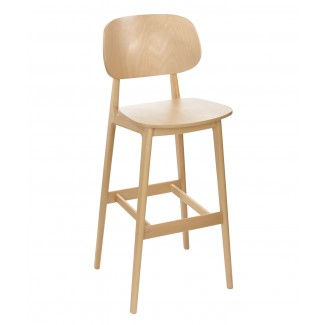 Fullham Beech Wood Hospitality Bar Stool