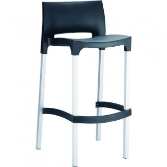 Gio Stacking Restaurant Bar Stool in Black