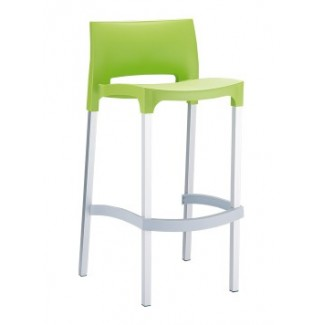 Gio Resin Stacking Bar Stool - Light Green