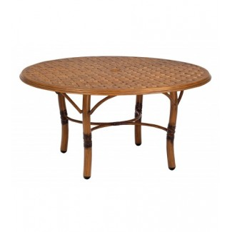 Glade Isle Coffee Table With Thatch Top