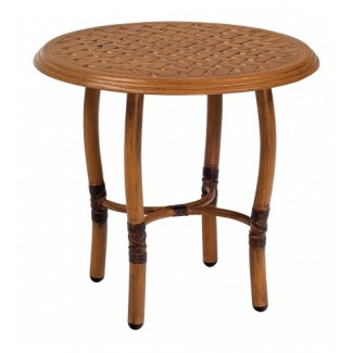 Glade Isle End Table With Thatch Top