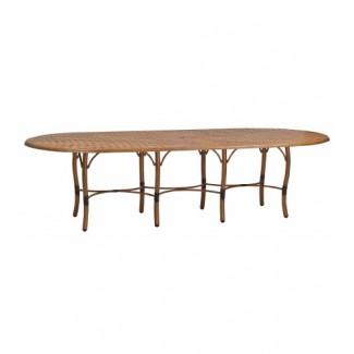 Glade Isle Large Dining Table With Thatch Top