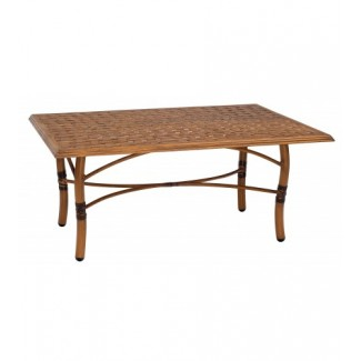 Glade Isle Rectangular Coffee Table With Thatch Top