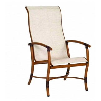 Glade Isle Sling High Back Dining Arm Chair