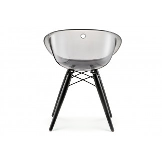 Gliss Transparent Barrel Dining Chair