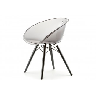 Pedrali Gliss Transparent Barrel Dining Chair