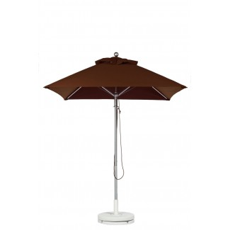 Commercial Restaurant Umbrellas 6-5 Foot Square Aluminum Market Umbrella With Aluminum Pole - Pulley Lift