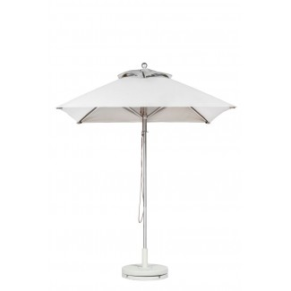 Commercial Restaurant Umbrellas 7-5 Foot Square Aluminum Market Umbrella With Aluminum Pole - Pulley Lift