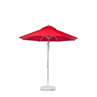 7-5 Foot Aluminum Market Umbrella With Aluminum Pole - Pulley Lift