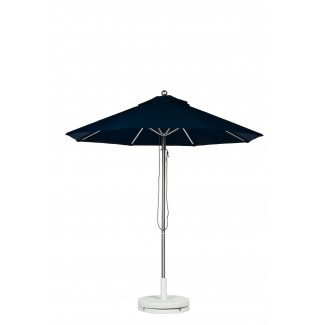 9 Foot Aluminum Market Umbrella With Aluminum Pole - Pulley Lift