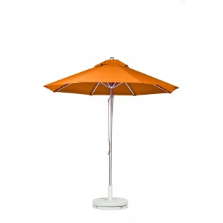 Commercial Restaurant Umbrellas 11 Foot Aluminum Market Umbrella With Aluminum Pole - Pulley Lift